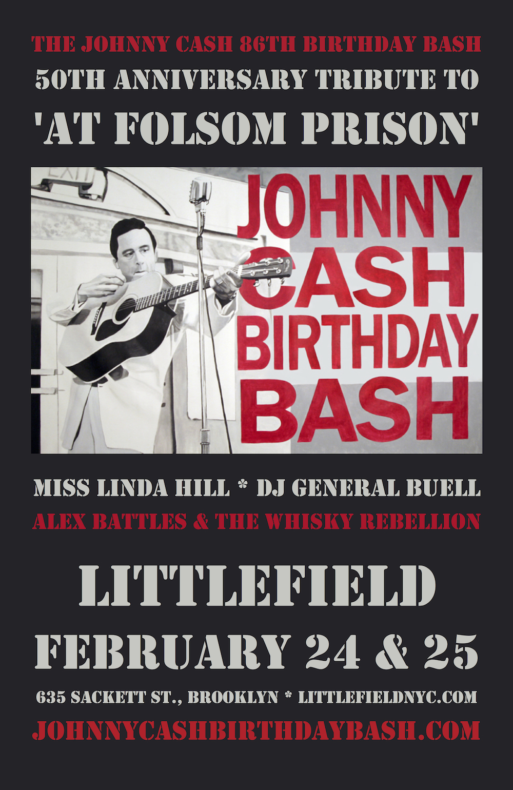 Johnny Cash 86th Birthday Bash, February 24 &                   25, 2018